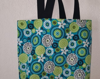 Reversible Tote Bag with Pocket