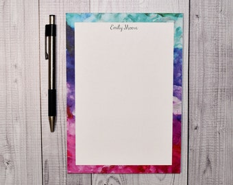 Personalized Notepad - Abstract Color