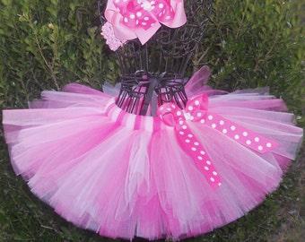 Pink Baby Tutu Pink Newborn Tutu 1st First Birthday Tutu Cake Smash Tutu Pink Minnie Mouse Tutu Preemie Tutu Infant Toddler Tutu Twin Girls