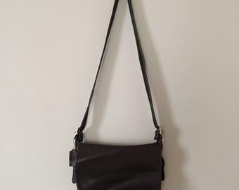 Coach black leather purse | large slouchy messenger purse