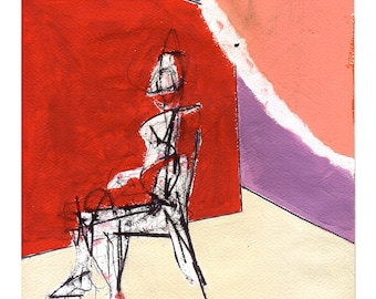 280218 (seated figure), original artwork