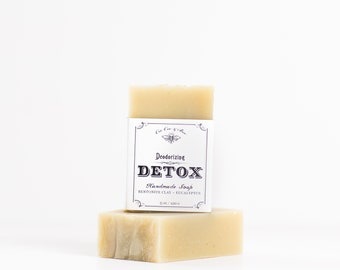 Deodorizing Detox Soap Bar 5oz Eucalyptus, Bentonite Clay, Cleansing, miracle soap! / Gift for the natural mom