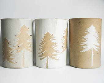 nordic christmas home decor, christmas vases, nordic ceramics, pine tree, christmas tree, christmas flower pot, winter home decor