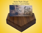 Items similar to baseball home plate desk top business card holder baseball home plate desk top business card holder gift for baseball coach assistant coach or baseball fan solid walnut very unique gift colourmoves Choice Image