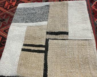 Turkish kilim Cushion Cover 50x50cm handmade, vintage: