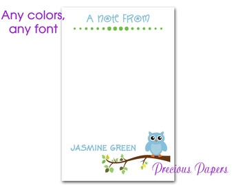 Personalized owl note pads Personalized teacher gift Personalized teacher owl note pads apple note pad owl note pad
