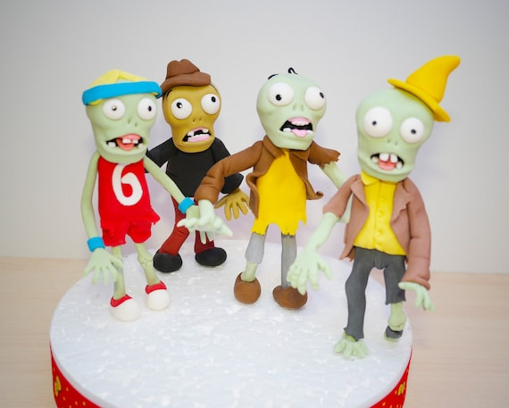 Zombie Cake Topper Plants Vs Zombies Cake Topper Halloween Zombies