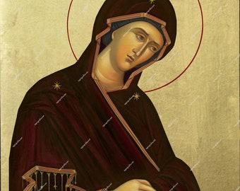 Virgin Mary Iparchousa | Byzantine Christian Orthodox Icon on Wood
