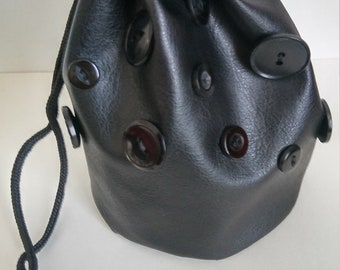 Black Buttons Dice Bag