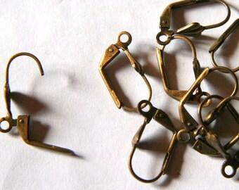 x 100 sleeper earrings bronze