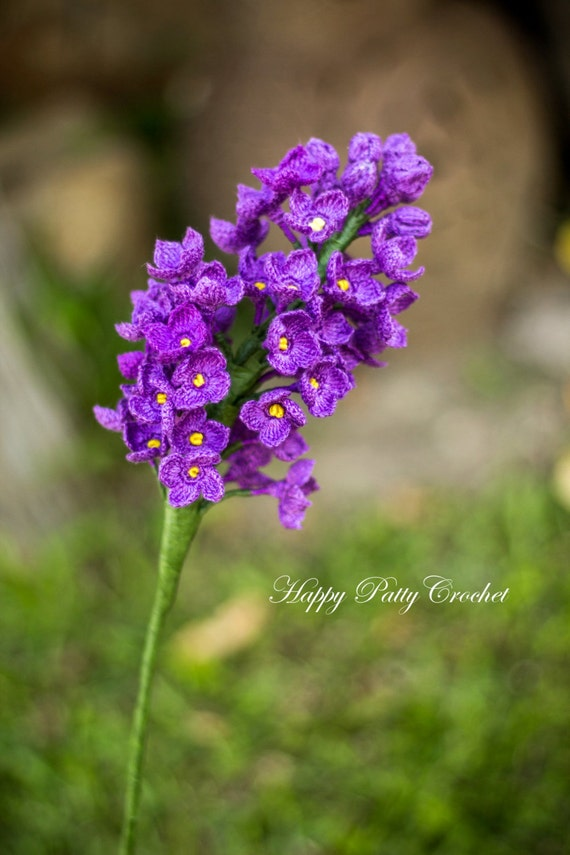 Beginner\'s Crochet Lilac Pattern - Crochet Lilac Flower Pattern for ...