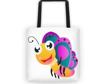Butterfly 4 Designer Tote Bag