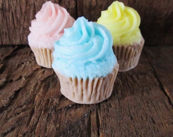 5 Shea Butter Mini Cupcake Soap Wedding, Bridal Shower, Birthday, Baby Shower 1.2 oz.