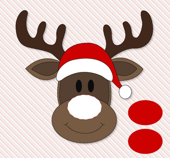 Easy Party Games: Pin The Nose On Rudolph Classroom Party Game PRINTABLE By Love