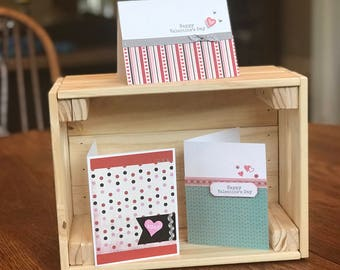 Set of three Valentine's Day cards
