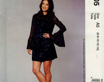 McCall's M0505 Designed by Nicole Miller Dress Pattern Size A5 (6-8-10-12-14)