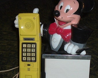 """MICKEY MOUSE """"As Magician"""" Unisonic Push Button Phone"""