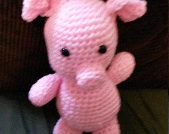 """Christmas Sale 11"""" Pink Pig"""