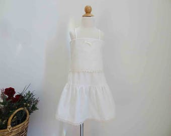 Ivory Camisole and Petticoat, Toddler Camisole, Girl's Slip, Size 2, 3, 4, 5, 6, 7, 8, Vintage Heirloom Style