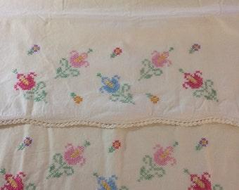Vintage Crosstitch Pillowcases