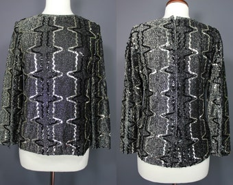 70's Disco Top.....Silver Sequined 70's Disco Top