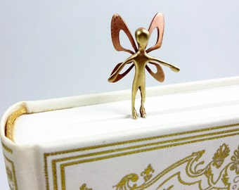 Metal bookmark with a fairy. Unique bookmarks. Bronze bookmark. Bronze art. Gift for book lovers. Gifts for her. Book accessories.