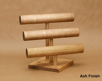 3-Tier Bracelet Display Watch Display T-Bar / Bracelet Stand / Watch Stand / Jewelry Holder / Large Bar 4.5:7.5 10.5 / BR007