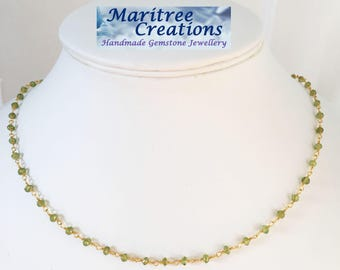 Rosery style chain with Peridot.