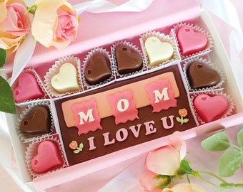 I Love You Mom Chocolates - Happy Mother's Day - Mother's Day Chocolates - Chocolate Gift - Mother's Day Card - Mother's Day Candy
