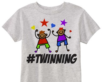 Boy Twinning Hashtag Graphic Tee