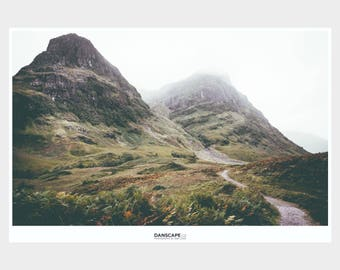 TWO SISTERS PRINT - Path To The Mountains of Glencoe Scotland Landscape Photograph