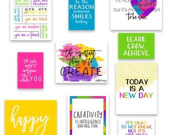 Classroom Art Classroom Decor, Kid's Wall Art, Inspirational Art Quotes, Teacher Art - Play Room Art Prints - Instant Download