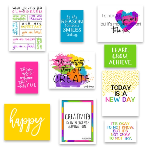 Classroom Wall Decoration Set ~ Set of classroom art decor kid s wall