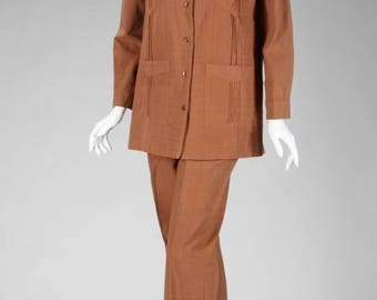 GRETA GARBO Brown Pant Suit