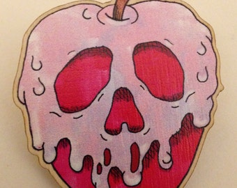 Snow White Poison Apple Brooch