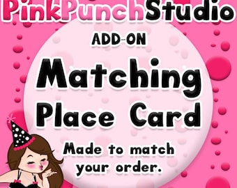 Printable Matching Placecards Custom Add-On PDF File