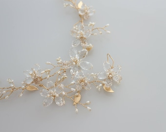 Gold Necklace Sakura - Princess - Gold Filled