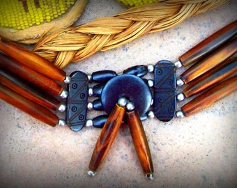 NATIVE American Ram horn Medicine Choker,Ram horn choker, Native American Ram horn Choker, Tribal necklace, Bohemian, Southwestern,