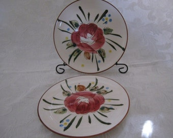 Set of Two Vintage Southern Gallery Rose Salad, Dessert, or Bread and Butter Plates