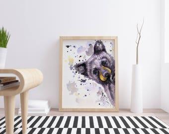 Cabin Decor - Bear Watercolor - Bear Cub Art - Black Bear - Gift For Mom - Bear Print - Bear Nursery - Mother Bear Gift - Mothers Day Gift
