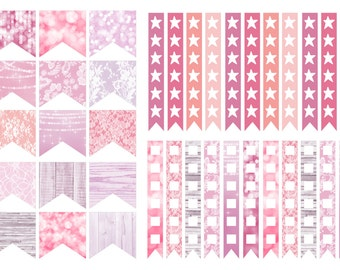 Blush Checklist stickers (planner stickers)