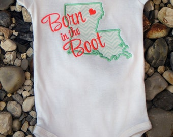 Born in the Boot Bodysuit - 9 Month Onesie