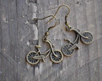 Vintage Bike Cruiser Earrings