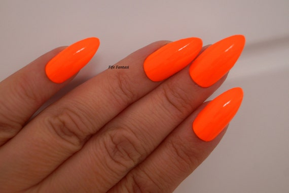 Items similar to Neon stiletto nails, Nail designs, Nail art, Nails ...