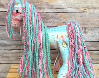 Stuffed pony - tribal pony - native pony - Horse Stuffed Animal - Stuffed Horse - Stuffed Pony - stuffed animal - plush pony - nursery decor