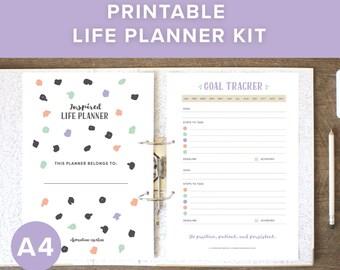 Printable Life Planner | A4 Planner Printables | A4 Planner