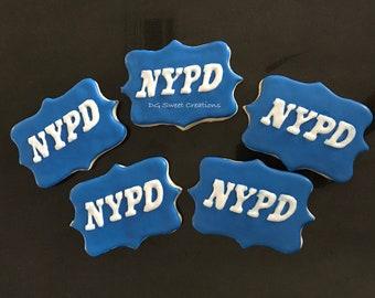 NYPD sugar cookies - Police sugar cookies