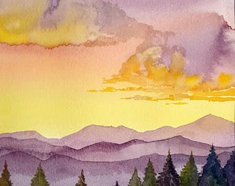 """Original Watercolor painting """" New Day"""""""