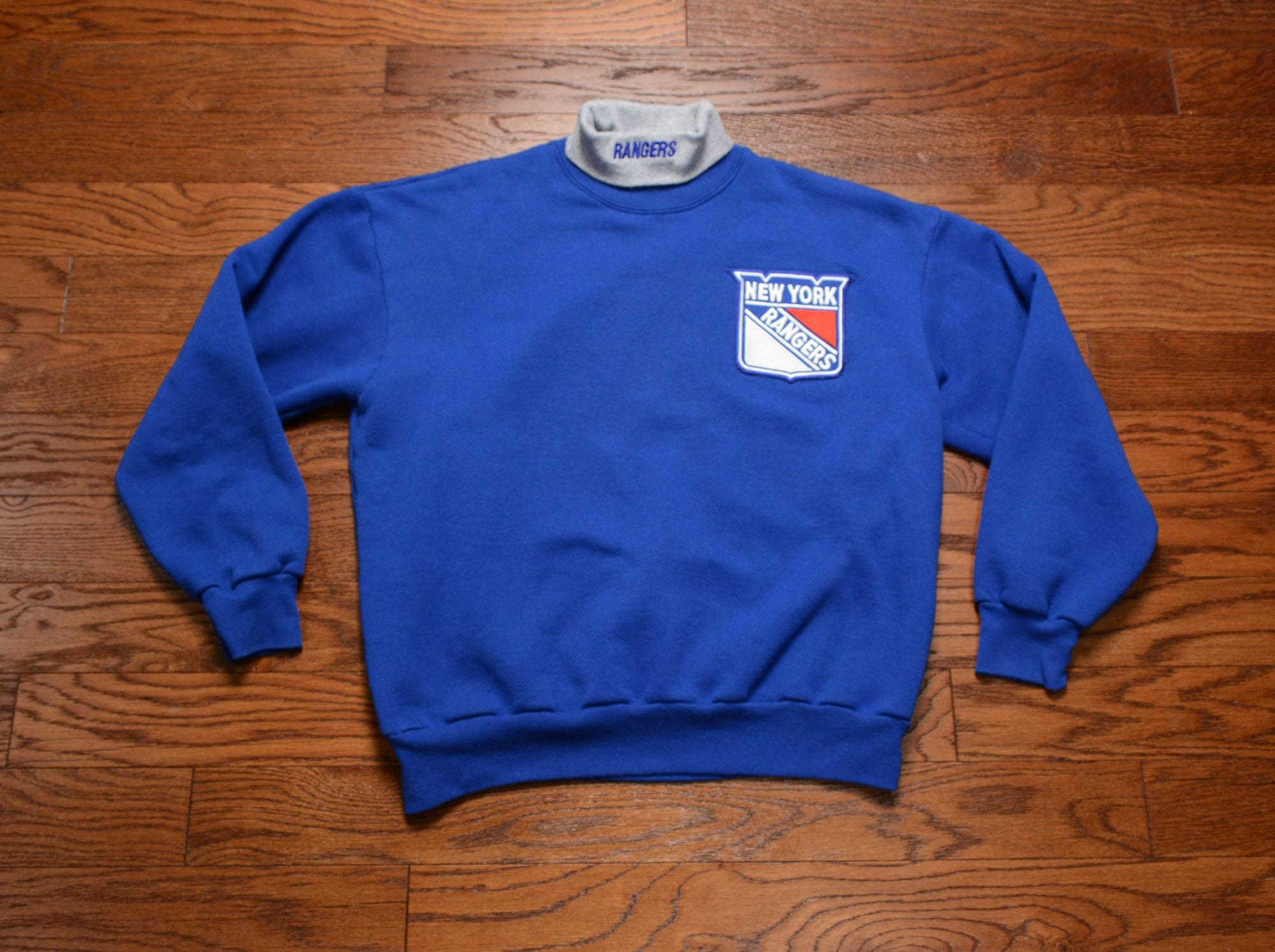 7518ffa30 vintage New York Rangers sweatshirt Majestic turtleneck