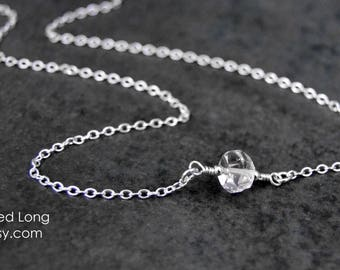 Silver Choker Necklace Crystal Choker Herkimer Diamond Sterling Silver Choker Necklace Crystal Necklace Quartz Crystal